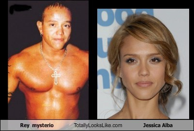 Rey  mysterio Totally Looks Like Jessica Alba