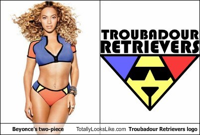 Beyonce's Two-Piece Totally Looks Like Troubadour Retrievers Logo