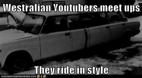 Westralian Youtubers meet ups  They ride in style