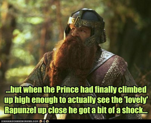 crossover,Lord of the Rings,rapunzel,gimli