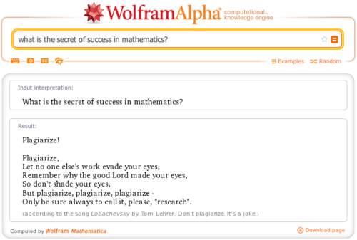 wolfram alpha,plagiarism,math,g rated,School of FAIL