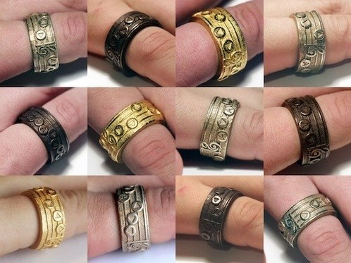 Elaborate Zelda Song Rings