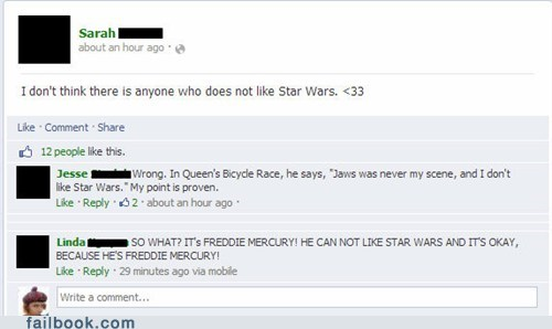 freddie mercury,jaws,star wars,queens,failbook,g rated