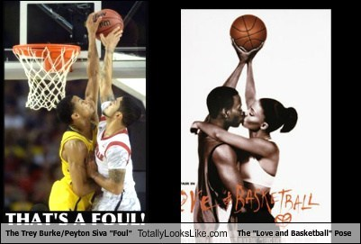"The Trey Burke/Peyton Siva ""Foul"" Totally Looks Like The ""Love and Basketball"" Pose"