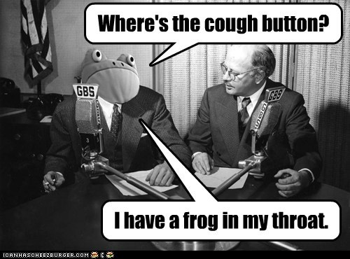 Where's the cough button?
