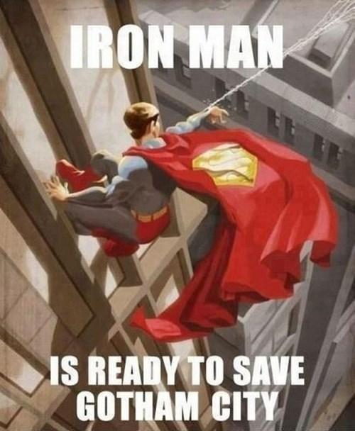 marvel comics,DC,justice league,iron man,superman,avengers,gotham city