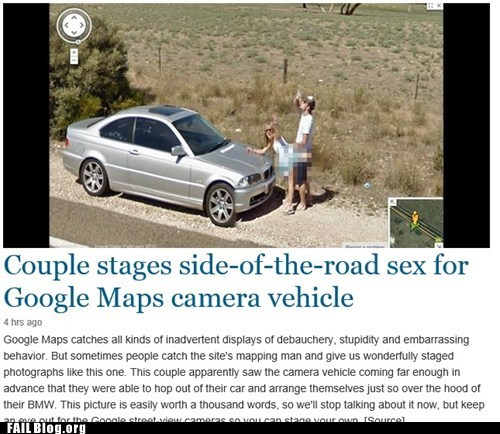Google Street View FAIL or Australian Couple's WIN?