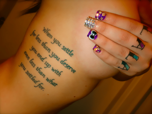 poem,tattoo,girl