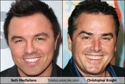 Seth Macfarlane Totally Looks Like Christopher Knight
