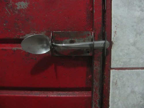 doors,dead bolts,spoons,g rated,there I fixed it