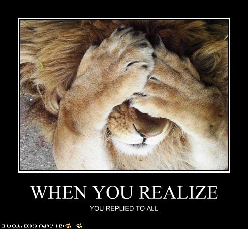 facepalm,reply all,lion