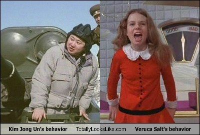 Kim Jong Un's behavior Totally Looks Like Veruca Salt's behavior