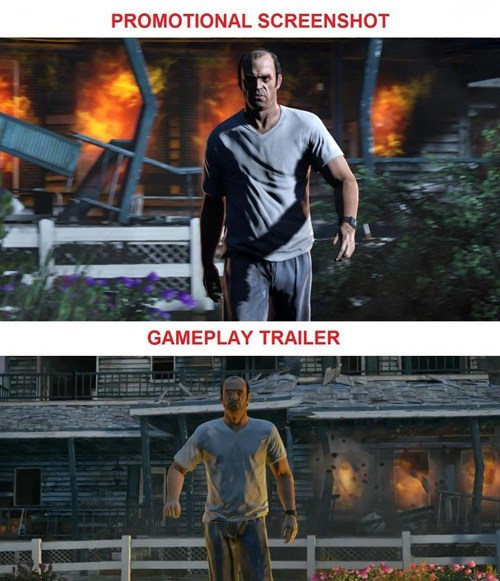 The Difference Between a Promotional Shot and Actual Gameplay