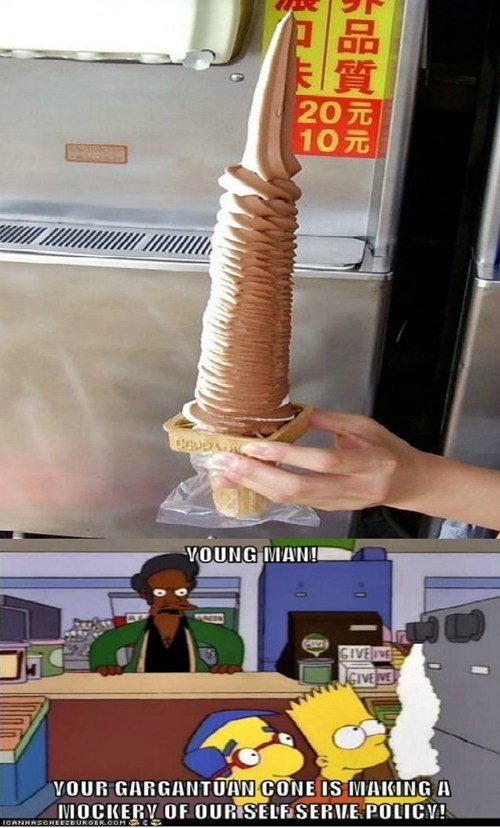 ice cream,re-frames,the simpsons
