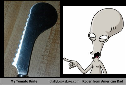 My Tomato Knife Totally Looks Like Roger from American Dad