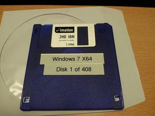 windows 7,floppy disks,seems legit