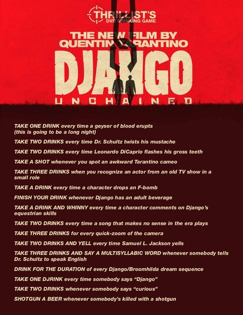 The Django Unchained Drinking Game