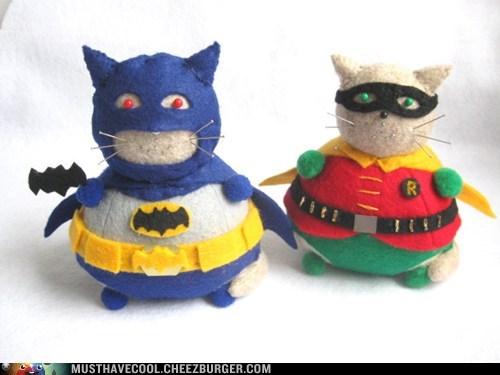 Holy Cat Pin Cushions, Batman!
