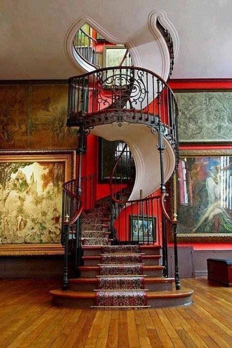 The Grand Staircase at the, Musée National Gustave Moreau, Paris