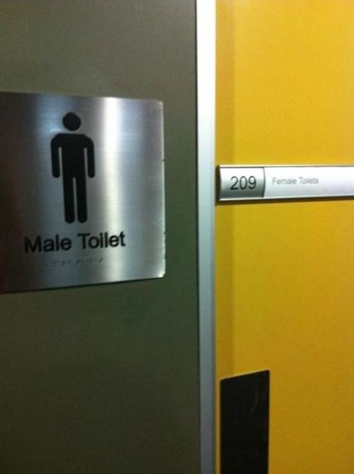 sign,paradox,bathroom,toilet