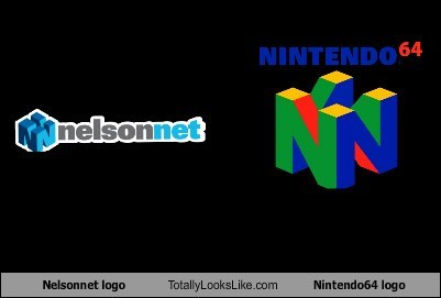 Nelsonnet logo Totally Looks Like Nintendo64 logo