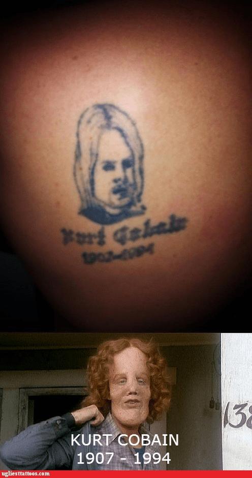 the mask,kurt cobain,nirvana,g rated,Ugliest Tattoos