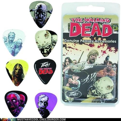 guitar,Music,picks,nerdgasm,zombie,The Walking Dead