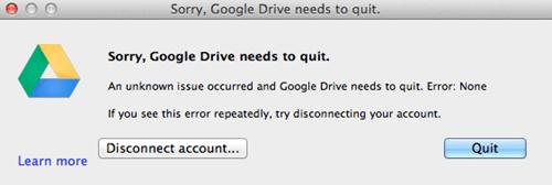 google drive,macs,there I fixed it