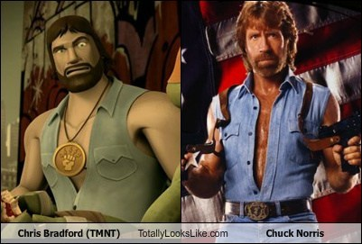 Chris Bradford (TMNT) Totally Looks Like Chuck Norris