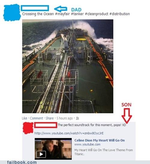 titanic,crossing the atlantic,my heart will go on,oil tanker
