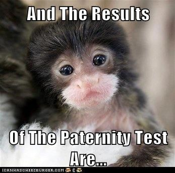 And The Results  Of The Paternity Test Are...
