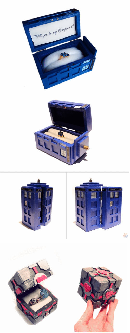 proposals,tardis,doctor who,engagement rings