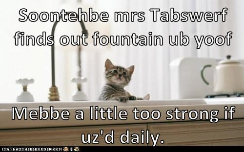Soontehbe mrs Tabswerf finds out fountain ub yoof  Mebbe a little too strong if uz'd daily.