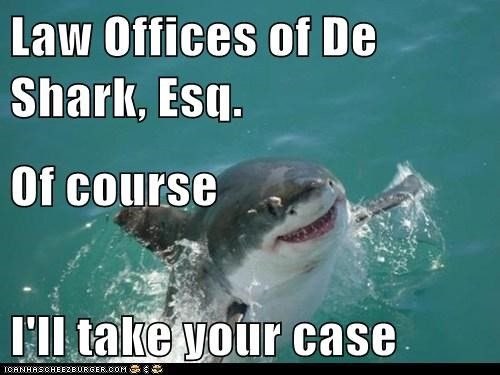 Law Offices of De Shark, Esq. Of course I'll take your case