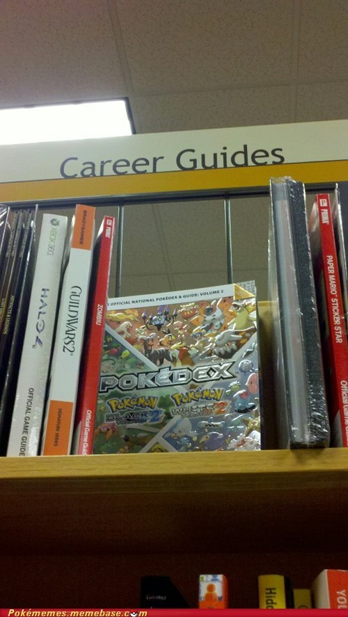 career guides,Pokémon,libraries,books,video games
