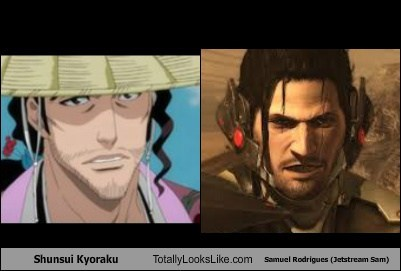 Shunsui Kyoraku Totally Looks Like Samuel Rodrigues (Jetstream Sam)