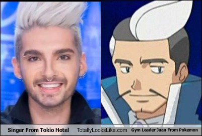 The Singer From Tokio Hotel Totally Looks Like Gym Leader Juan From Pokemon