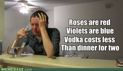 forever alone,booze,poems