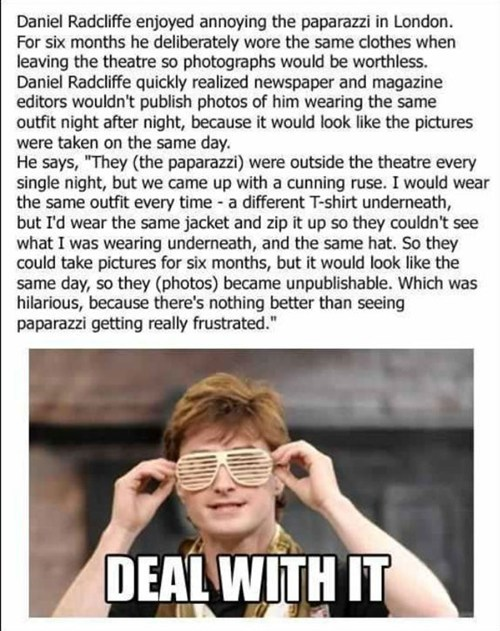 Harry Potter Casts a Spell on the Paparazzi