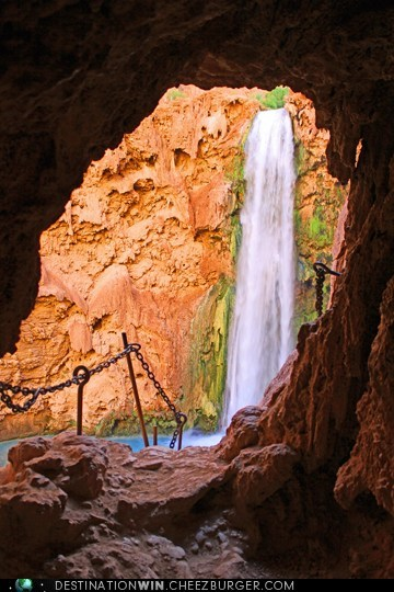 Mooney Falls at the Grand Canyon