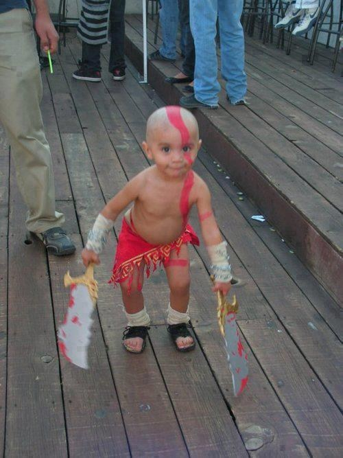 god of war,cosplay,kids,cute