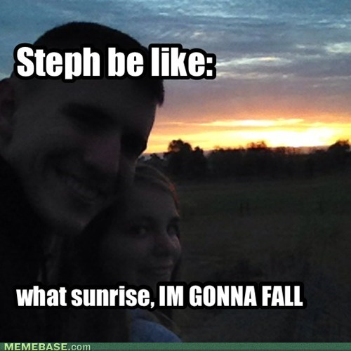 Steph be like: