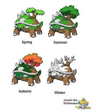 What if Torterra Changed Throughout the Seasons