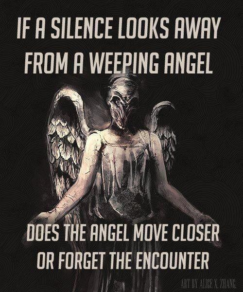 weeping angels,doctor who,the silence