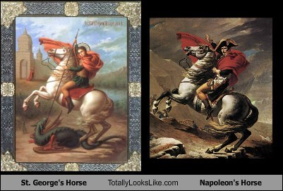 classic art,napoleon,totally looks like,horses,st-george