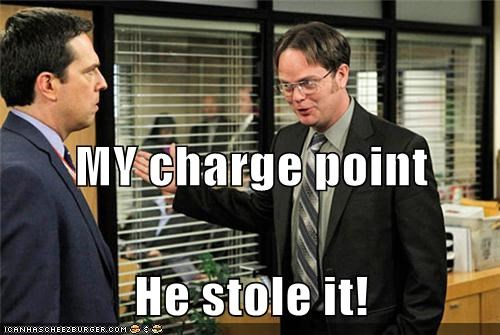 MY charge point He stole it!