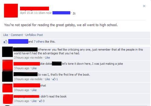 high school reading list,school,the great gatsby,reading list,failbook