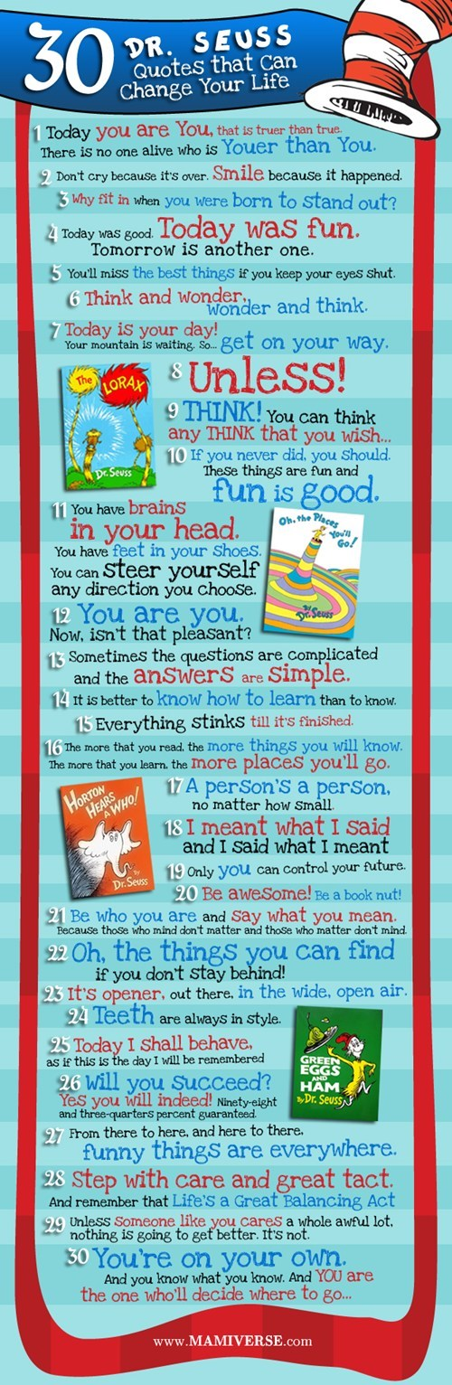 Dr. Seuss' Life Lessons!