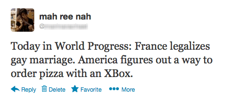 france gay marriage,pizza hut,gay marriage,kinect,xbox 360,france,failbook,g rated