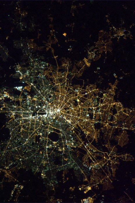From Space, You Can See the East/West Berlin Divide